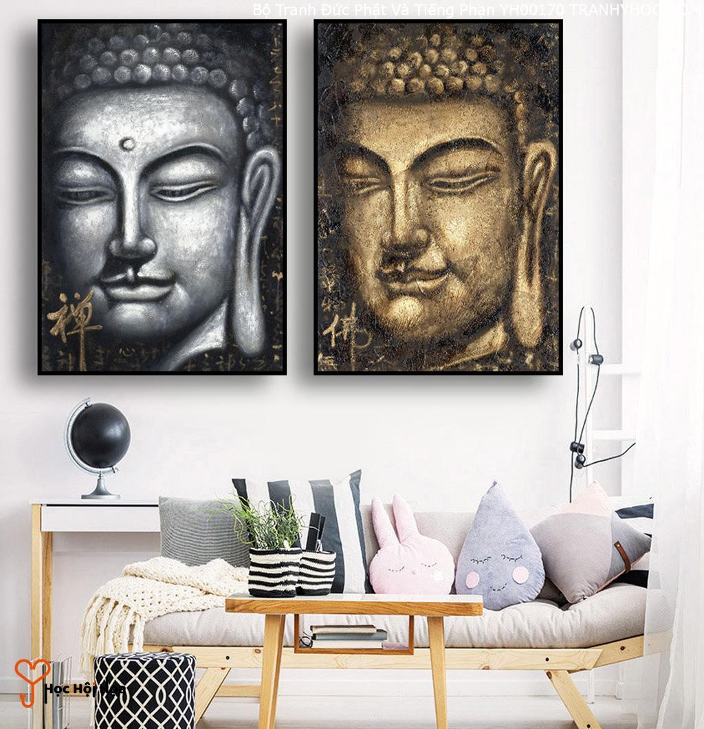 Bộ Tranh Đức Phật Và Tiếng Phạn YH00170