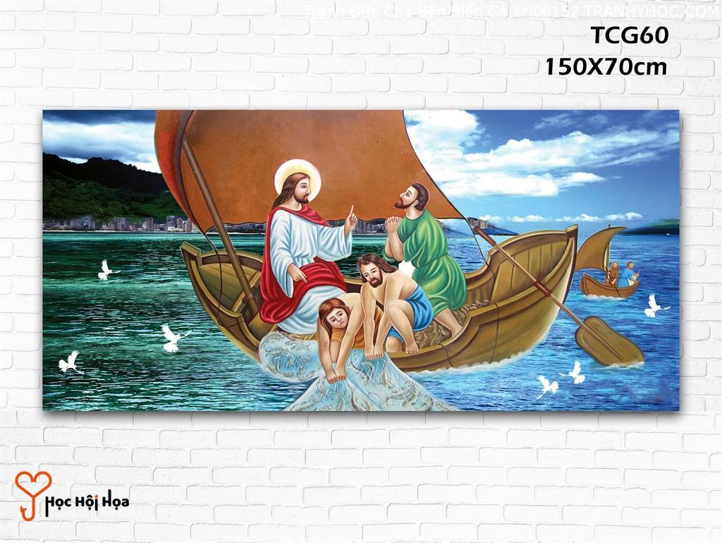 Tranh Đức Cha Bên Biển Cả YH00152
