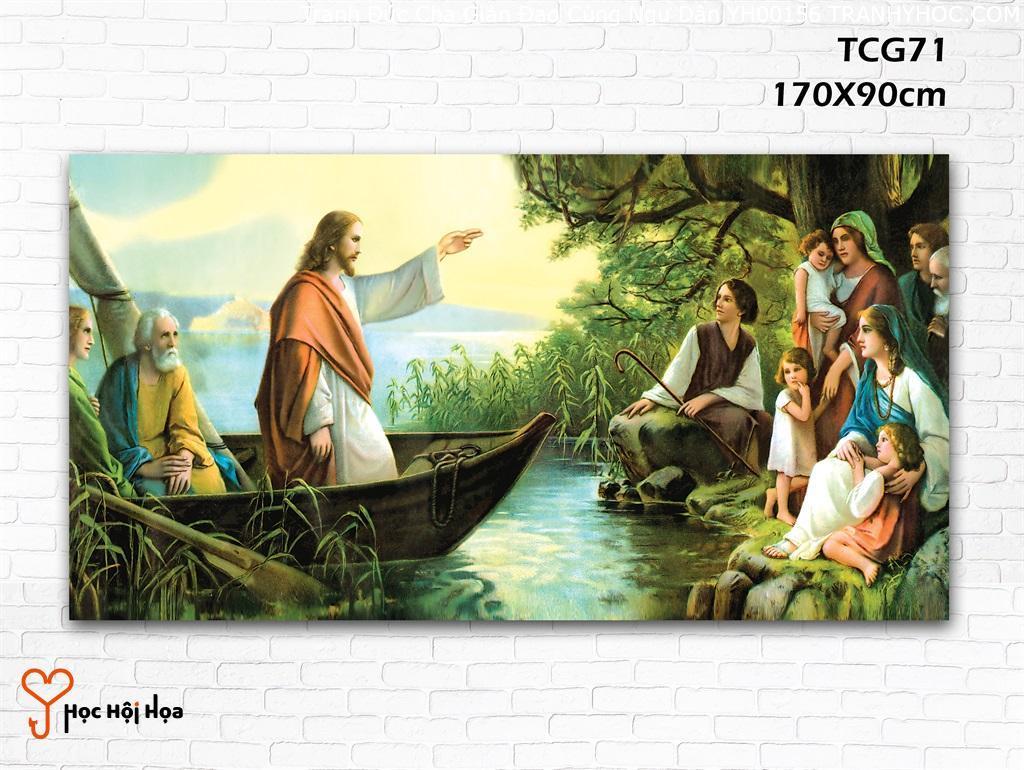 Tranh Đức Cha Giản Đạo Cùng Ngư Dân YH00156