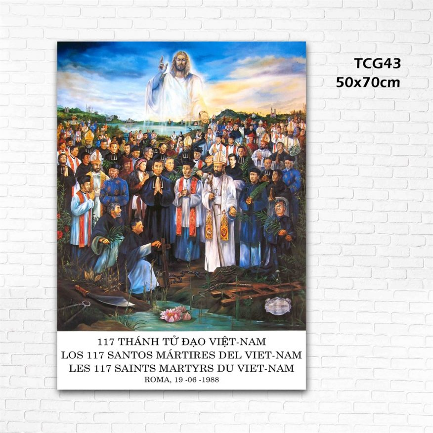 Tranh Đức Cha Hiện Về Cùng Các Thánh Tử Đạo YH00143