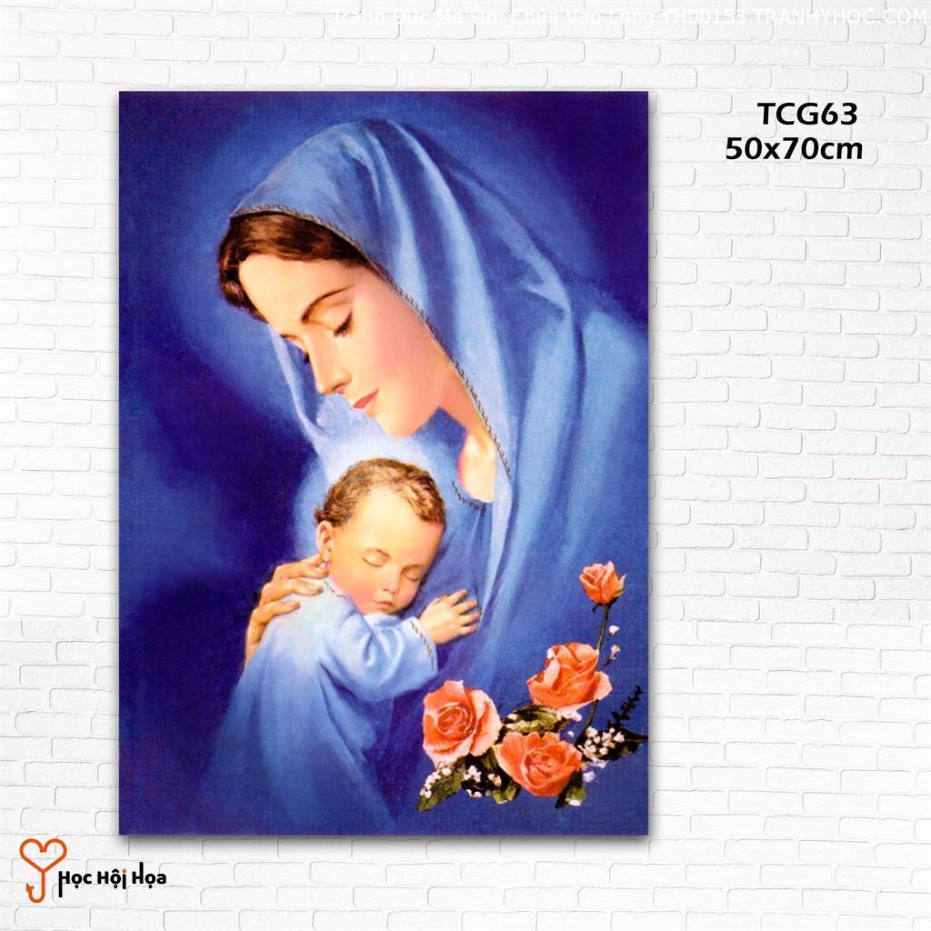 Tranh Đức Mẹ Ôm Chúa Vào Lòng YH00153