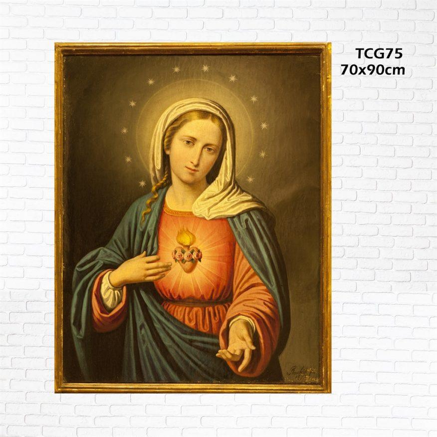 Tranh Đức Mẹ Và Chồm Sao YH00158
