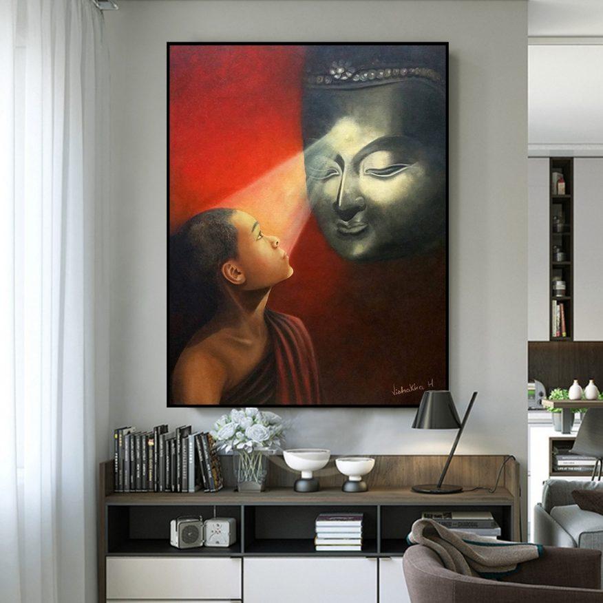Tranh Đức Phật Soi Sáng Tiểu Đồng YH00183