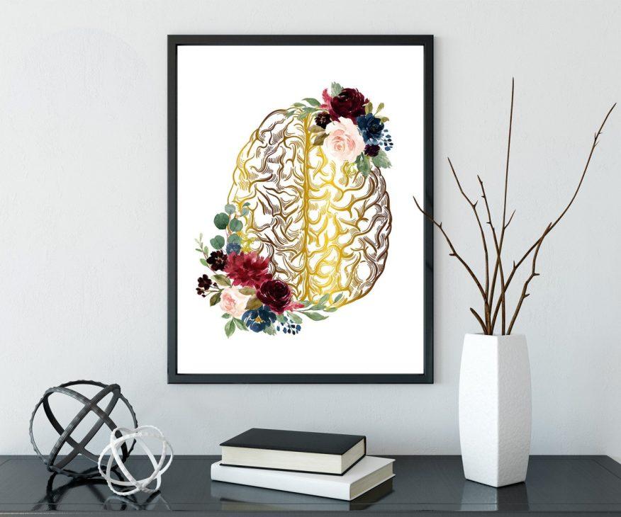Tranh 2 Vòng Hoa Vẽ Trên Sóng Não YH00071