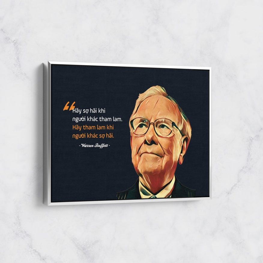 Tranh Câu Nói Hay Của Wanrren Buffett DL066