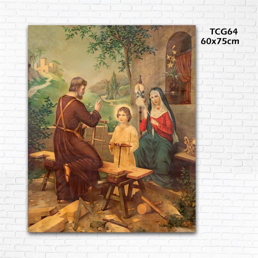 Tranh Công Giáo Đức Cha Giản Đạo Tại Xưởng Gỗ YH00154