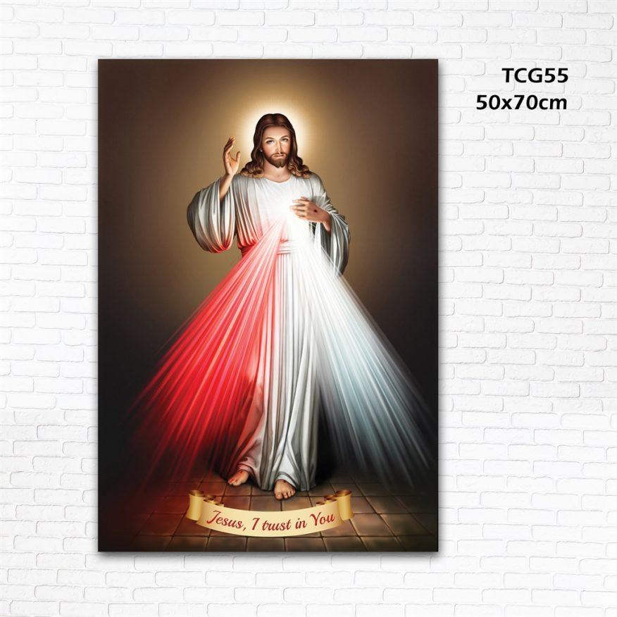 Tranh Công Giáo Đức Cha Toả Hào Quang YH00150