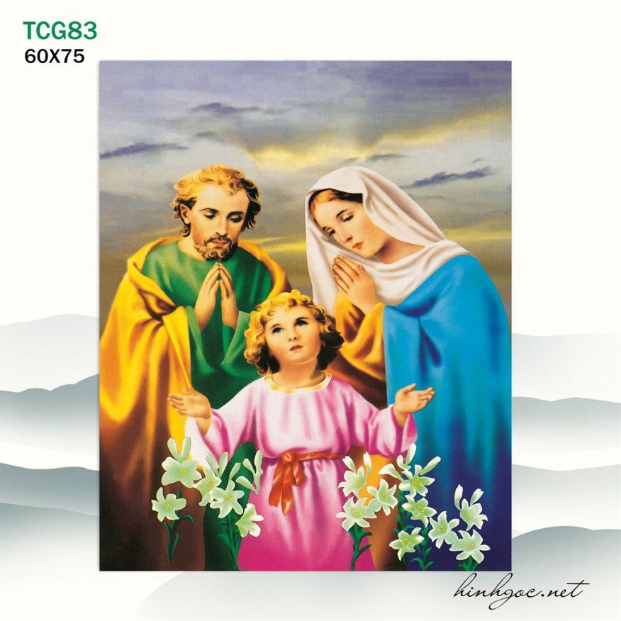 Tranh Công Giáo Gia Đình Chúa Cầu Nguyện YH00164