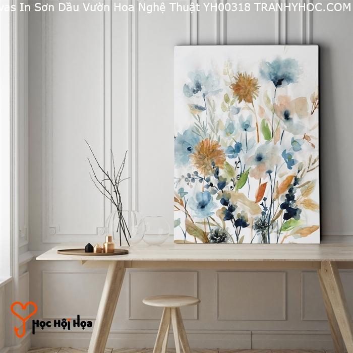 Tranh Canvas In Sơn Dầu Vườn Hoa Nghệ Thuật YH00318