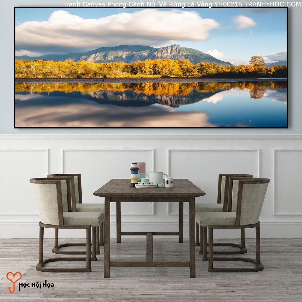 Tranh Canvas Phong Cảnh Núi Và Rừng Lá Vàng YH00216
