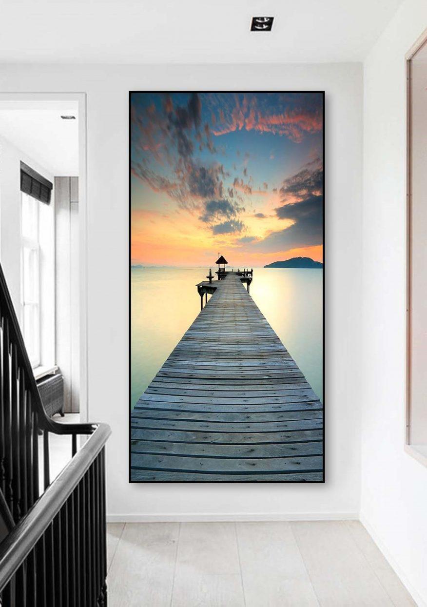 Tranh Canvas Phong Cảnh Tại Cảng Biển YH00348