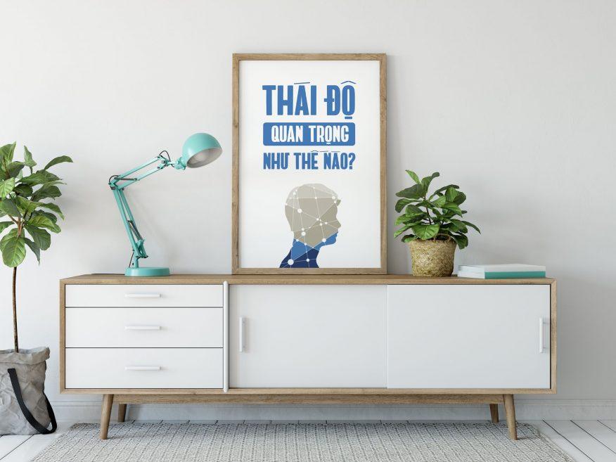 Tranh Canvas Thái Độ Quan Trọng Như Thế Nào DL056