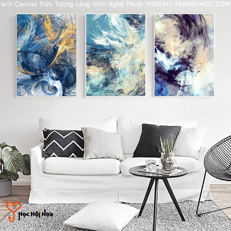 Tranh Canvas Trừu Tượng Làng Khói Nghệ Thuật YH00347