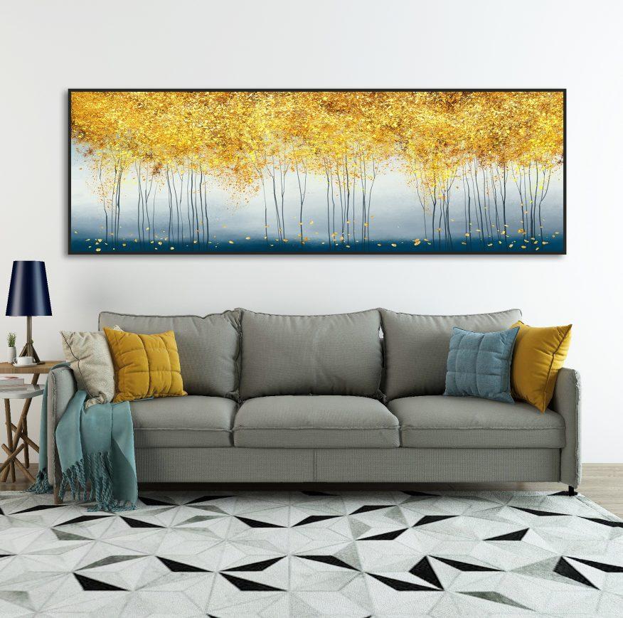 Tranh Canvas Trừu Tượng Rừng Cây Lá Vàng YH00284