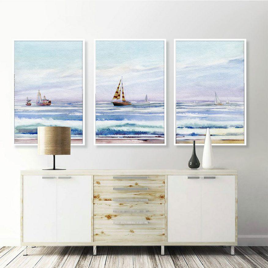 Tranh Canvas Treo Tường Phong Cảnh Thiên Nhiên Biển Cả YH00206