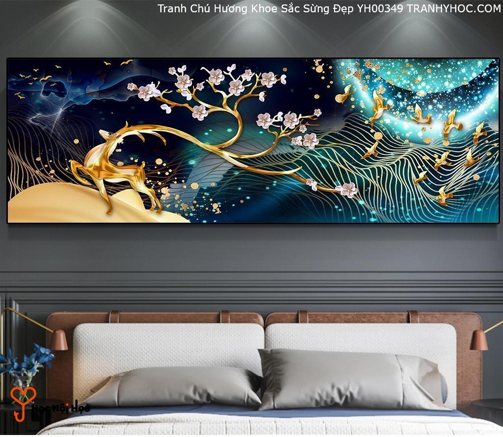 Tranh Chú Hương Khoe Sắc Sừng Đẹp YH00349