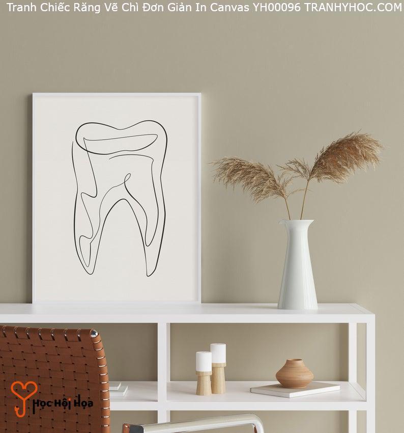 Tranh Chiếc Răng Vẽ Chì Đơn Giản In Canvas YH00096
