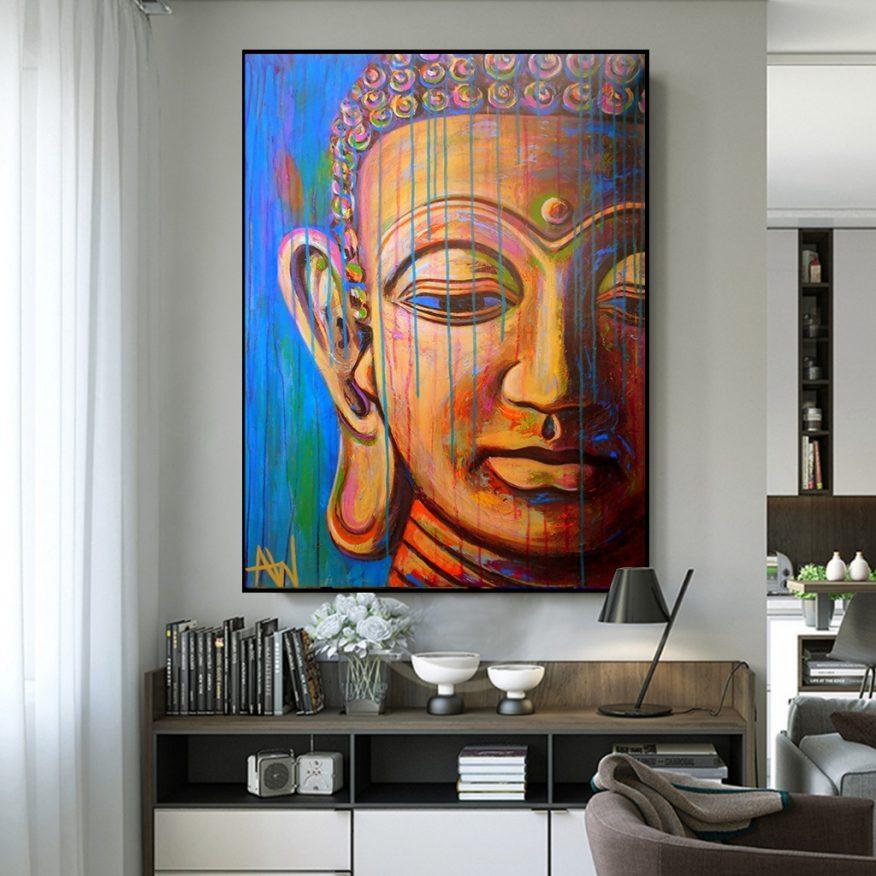 Tranh Gương Mặt Phật Thích Ca Mâu Ni YH00185