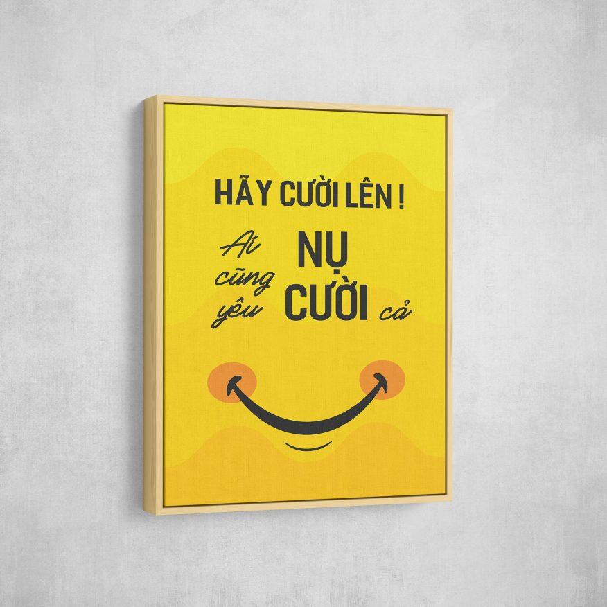 Tranh Hãy Cười Lên Ai Cũng Yêu Nụ Cười DL124