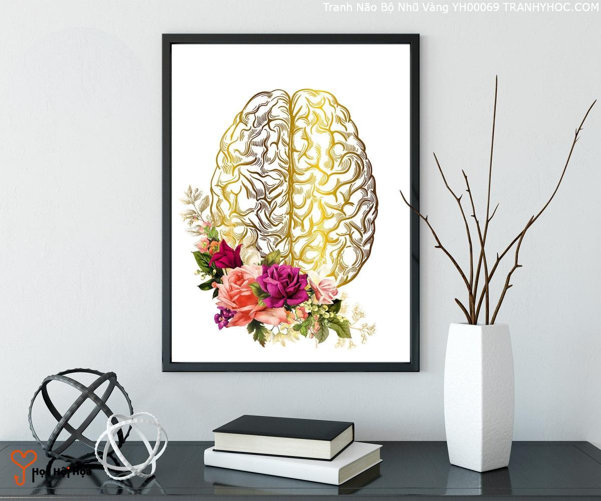 Tranh Não Bộ Nhũ Vàng YH00069