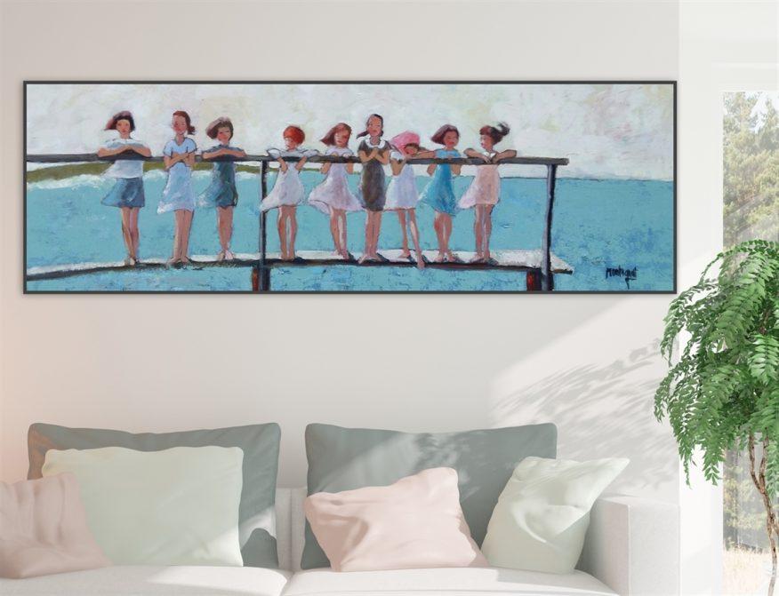 Tranh Những Đứa Trẻ Vui Đùa Bên Biển YH00310