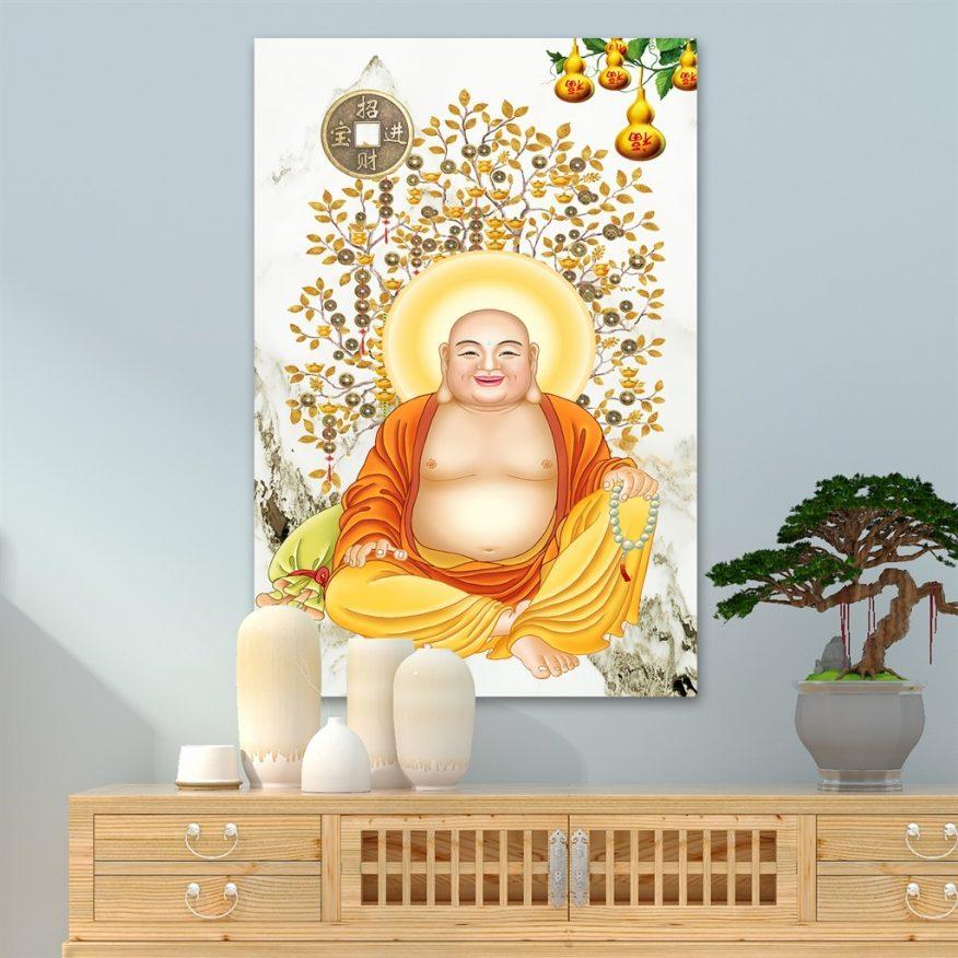 Tranh Phật Di Lặc Toả Ánh Hào Quang YH00173