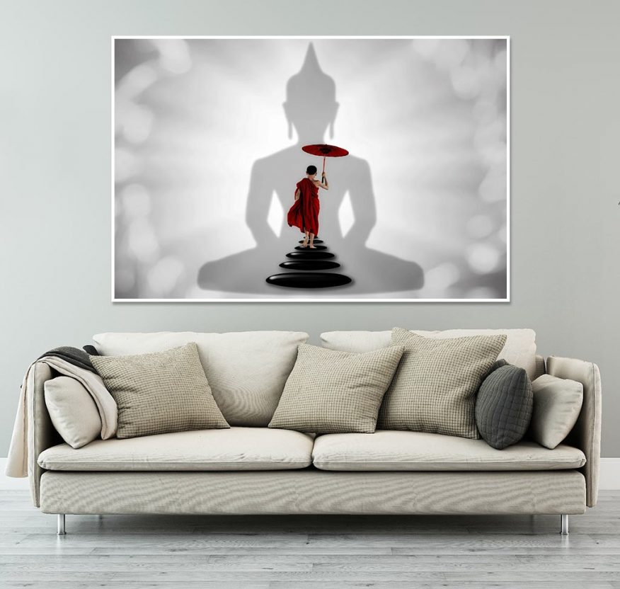 Tranh Phật Giáo Trong Tâm Chú Tiểu YH00176