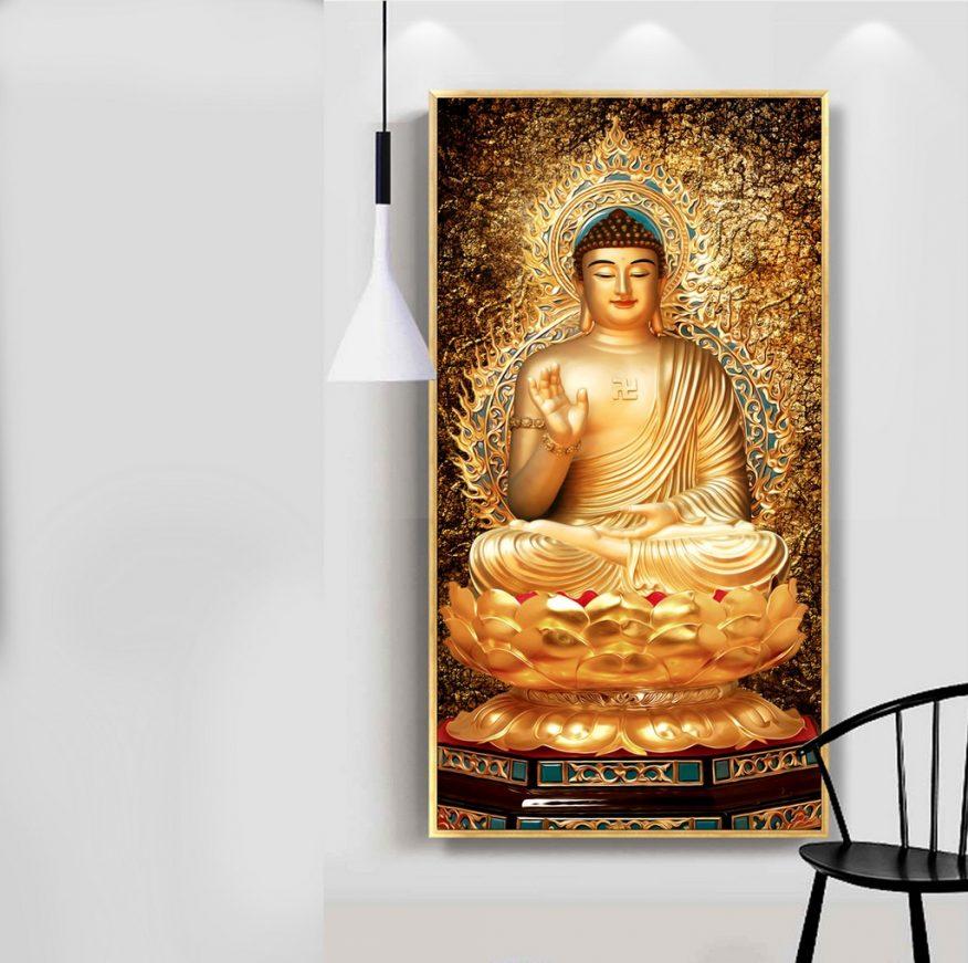 Tranh Phật Như Lại Toạ Sen 3D YH00178