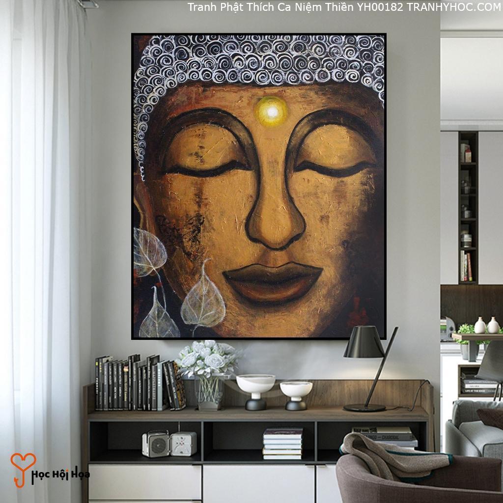 Tranh Phật Thích Ca Niệm Thiền YH00182