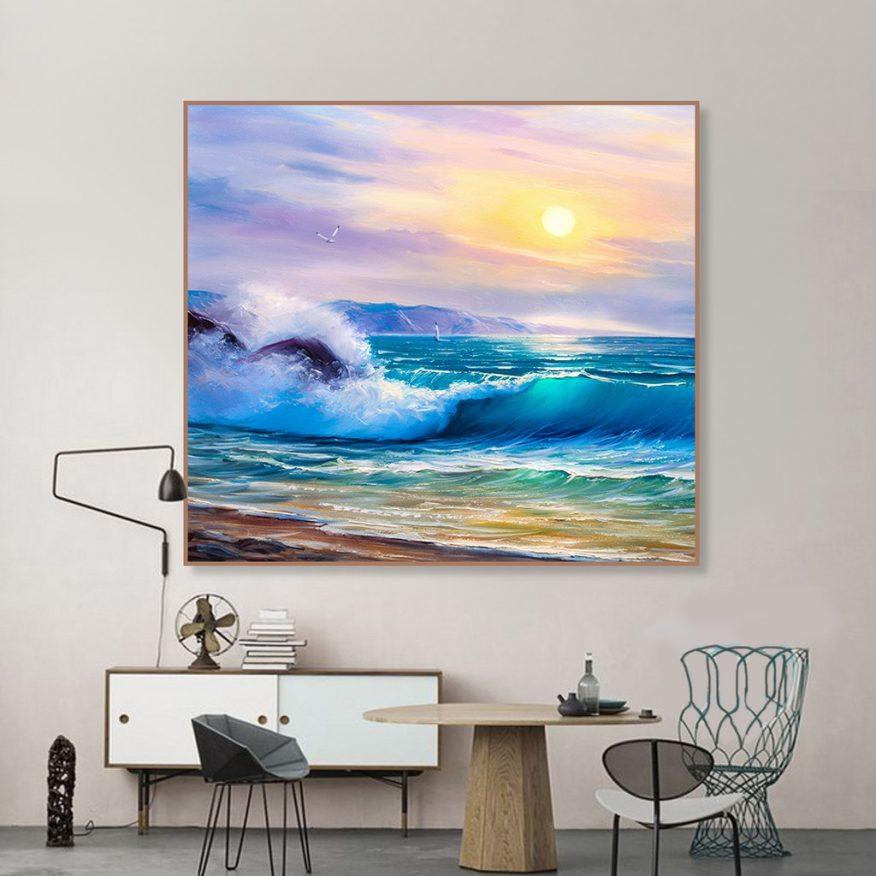 Tranh Phong Cảnh Mặt Trời Mọc Trên Biển YH00264