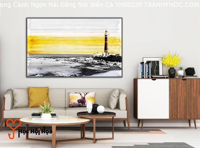 Tranh Phong Cảnh Ngọn Hải Đăng Nơi Biển Cả YH00335
