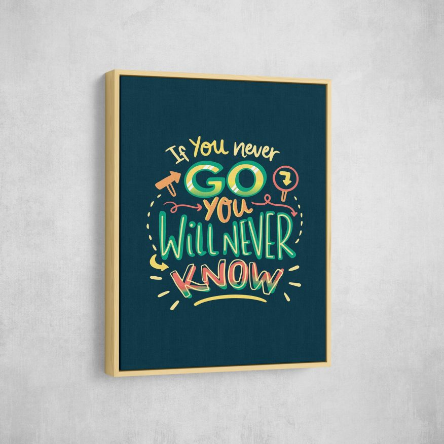 Tranh Slogan If You Never Go You Will Never Know DL105