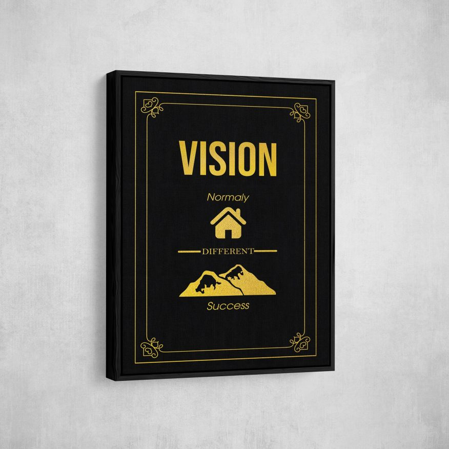 Tranh Slogan Vision Normaly Different Success DL115