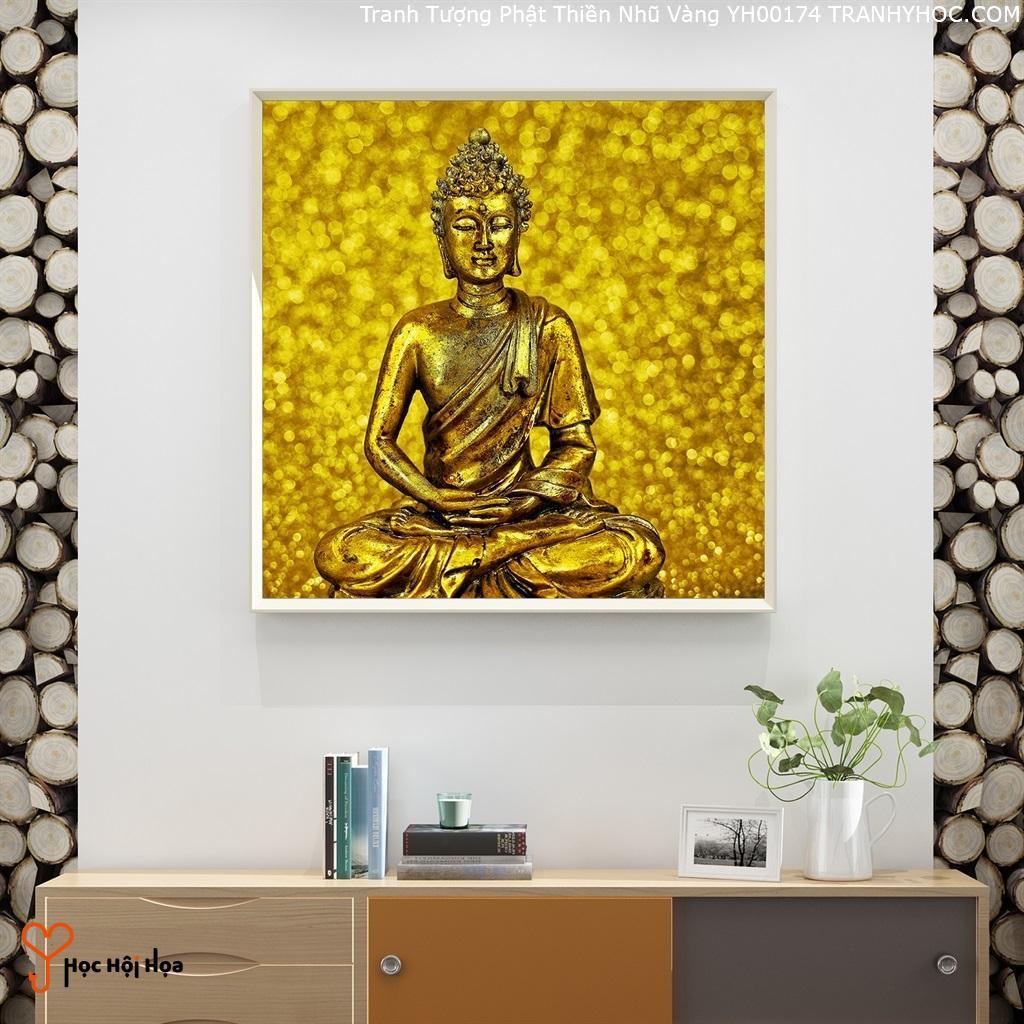 Tranh Tượng Phật Thiền Nhũ Vàng YH00174