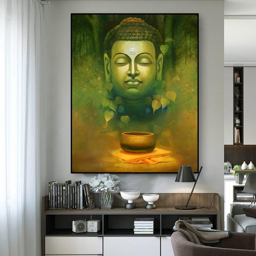Tranh Tượng Phật Trong Rừng Sâu YH00184