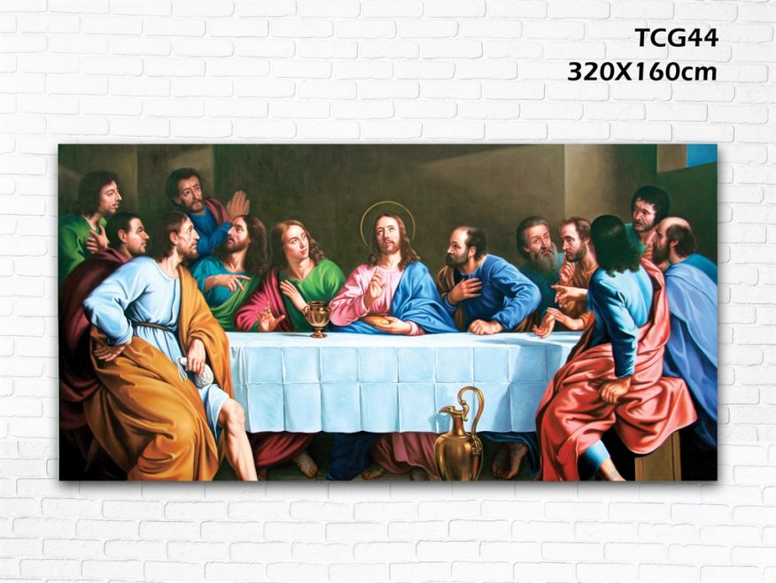 Tranh Thiên Chúa Đức Cha Họp Chuyện YH00144