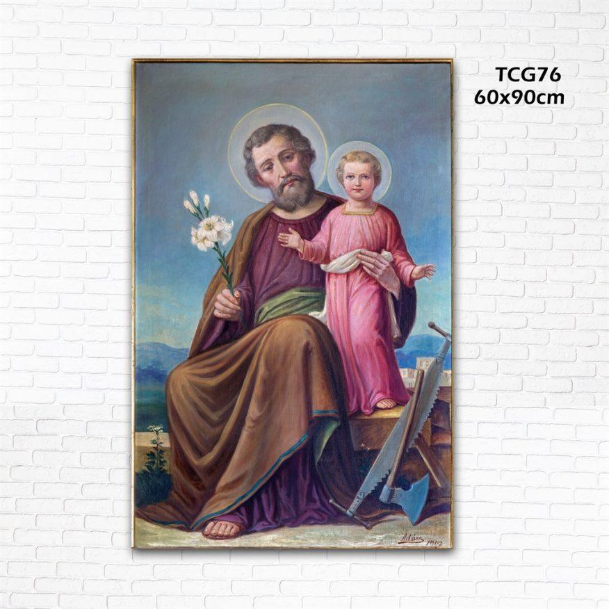 Tranh Thiên Chúa Đức Cha Và Cành Hoa YH00159