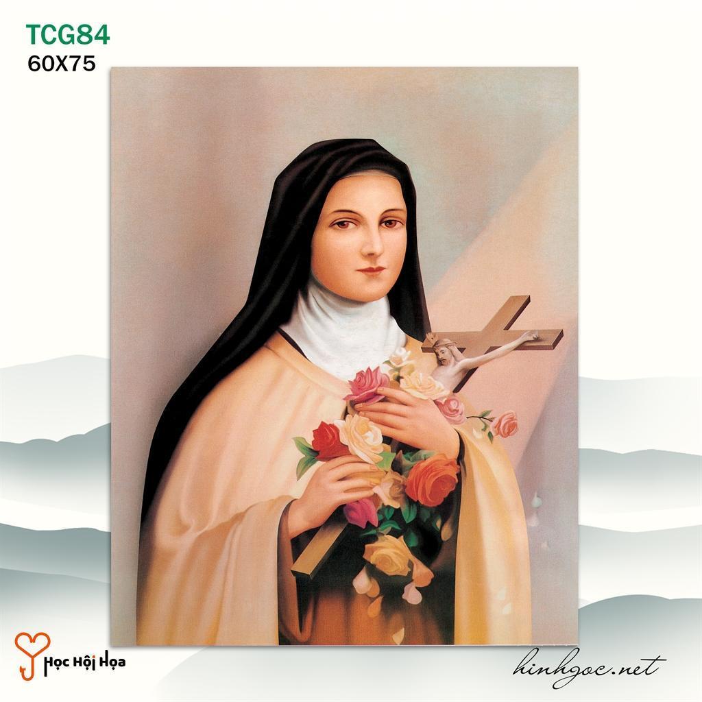 Tranh Thiên Chúa Đức Mẹ Cùng Cây Thánh Giá YH00165