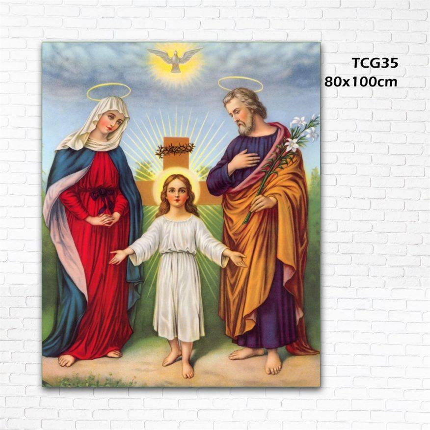 Tranh Thiên Chúa Bên Cây Thánh Giá Cầu Nguyện YH00138