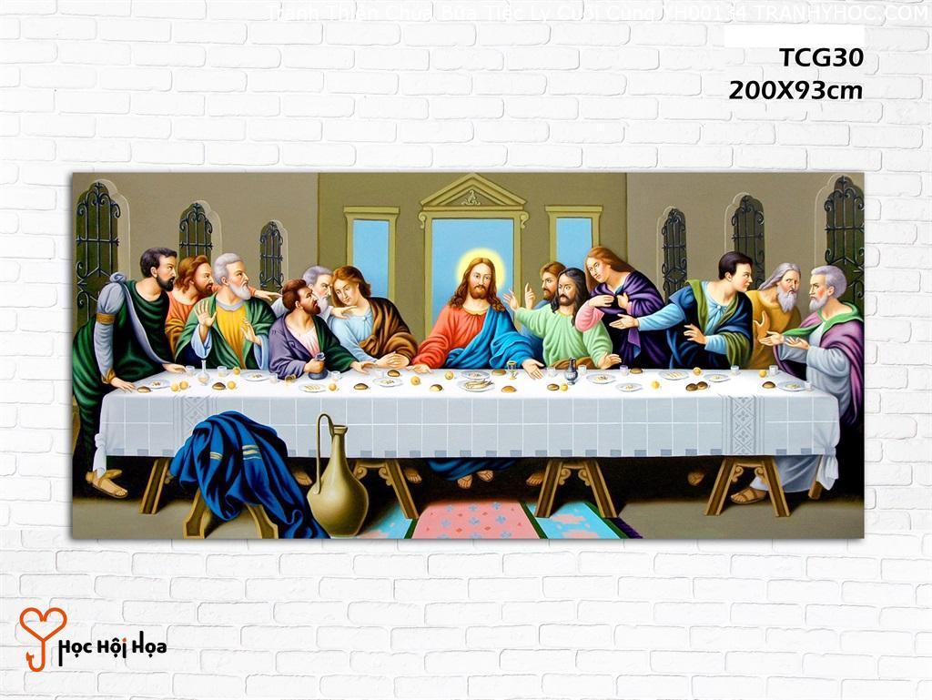 Tranh Thiên Chúa Bữa Tiệc Ly Cuối Cùng YH00134