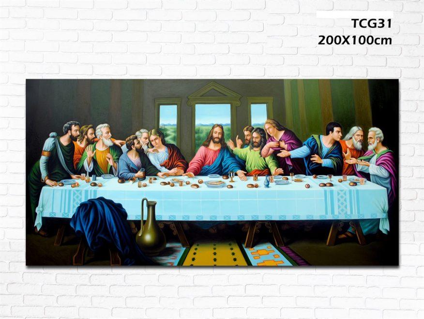 Tranh Thiên Chúa Sơn Dầu Bữa Tiệc Ly YH00135