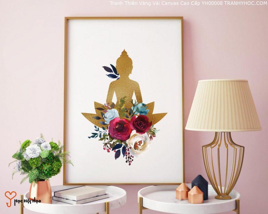 Tranh Thiền Vàng Vải Canvas Cao Cấp YH00008