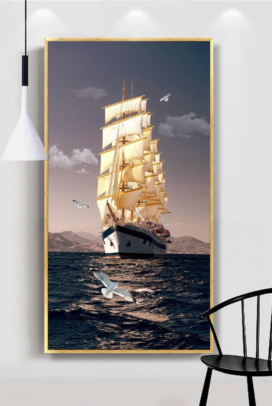 Tranh Thuyền Ra Khơi Và Cánh Chim Hải Âu YH00329