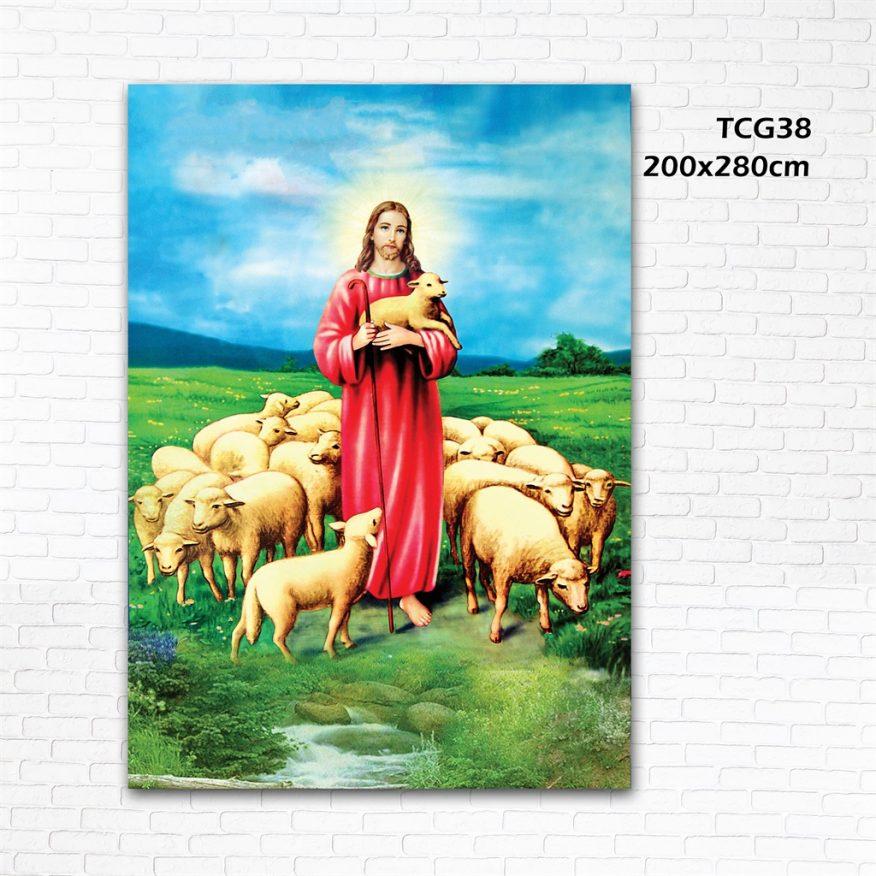 Tranh Trang Trí Đức Cha Và Đàn Cừu YH00140