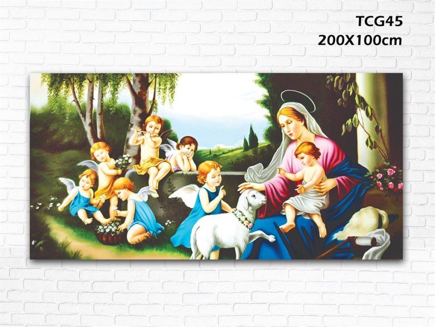 Tranh Treo Tường Đức Mẹ Và Thiên Thần YH00145