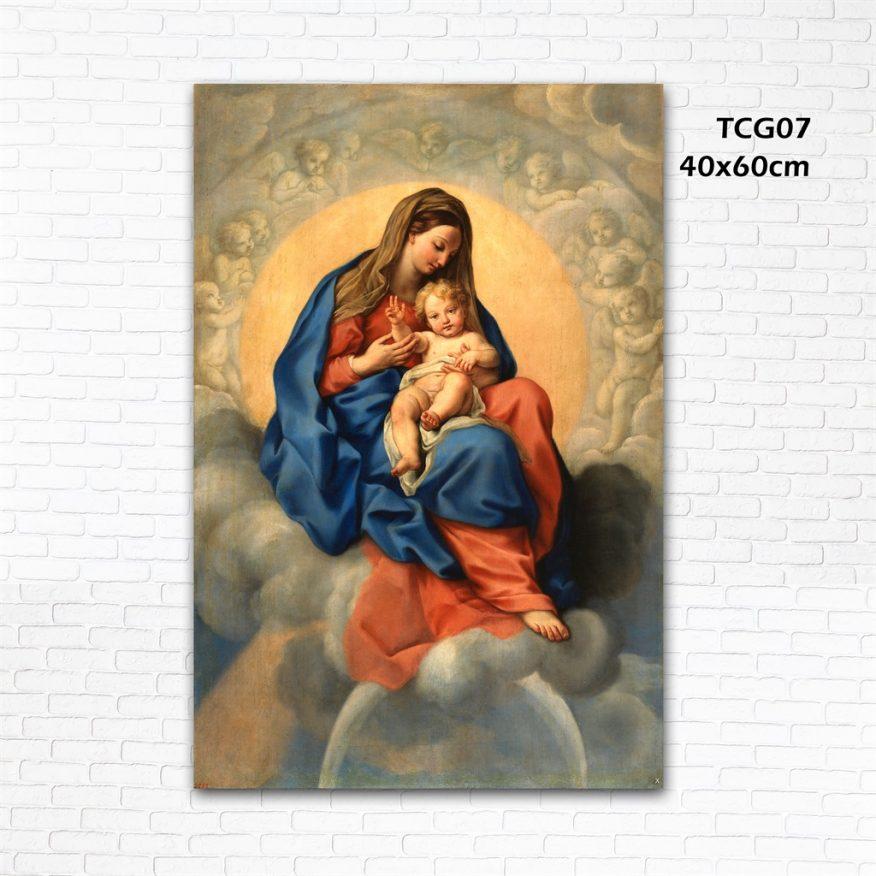 Tranh Treo Tường Thiên Chúa Đức Mẹ Và Bé YH00130