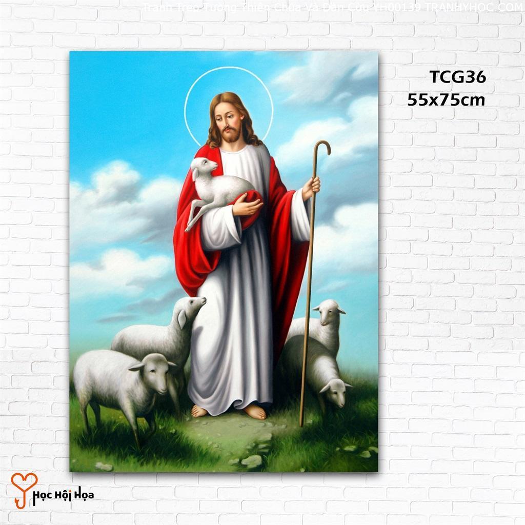 Tranh Treo Tường Thiên Chúa Và Đàn Cừu YH00139