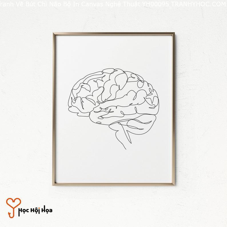 Tranh Vẽ Bút Chì Não Bộ In Canvas Nghệ Thuật YH00095