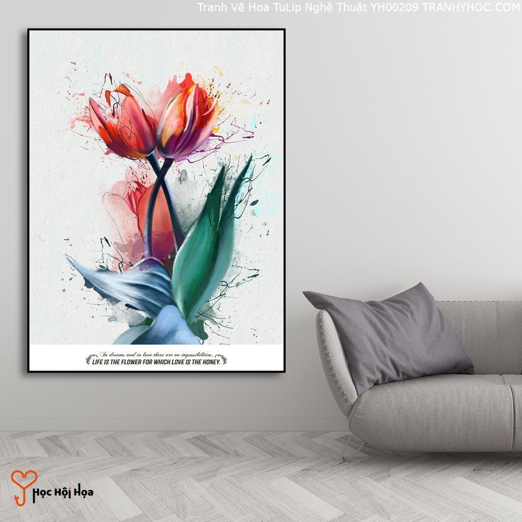 Tranh Vẽ Hoa TuLip Nghệ Thuật YH00209