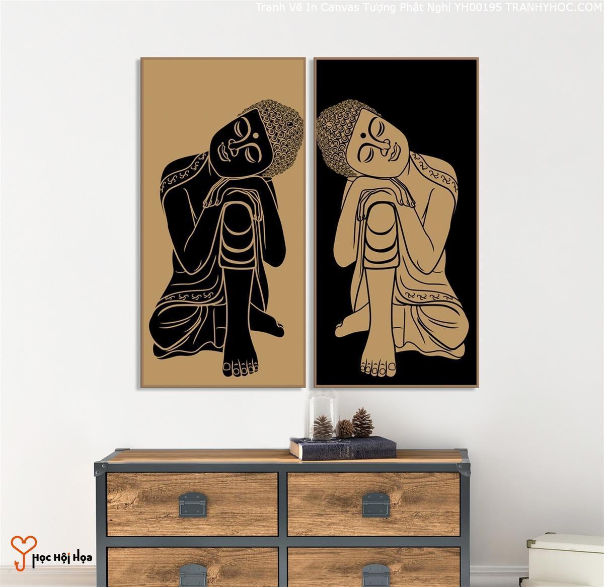 Tranh Vẽ In Canvas Tượng Phật Nghỉ YH00195